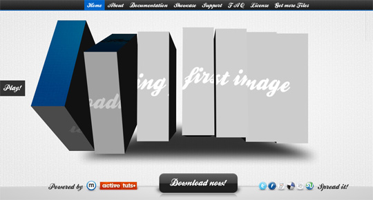 3D Flash Web Sites