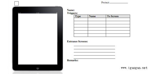 High Level iPad App Wireframing