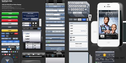 iPhone GUI PSD (iPhone 4S)