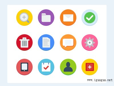 12 Flat Icons - Free