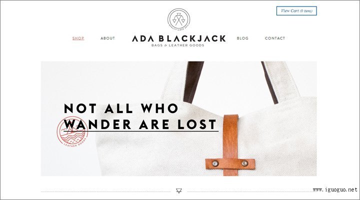 damndigital_20-beautiful-examples-of-using-white-in-web-design_ada-blackjack-shop